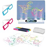 ToyVelt Light up Tracing Pad - Kids Magic Pad Light Up Drawing Board – Education Dinosaur Doodle Glow Pad with 2 3D Glasses -