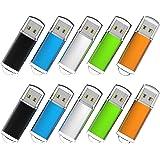 Flash Drive, wellsenn USB Flash Drive 1,2,4,8 GB X10 Bulk Memory Stick Jump Drive External Drives USB Stick USB Storage Port