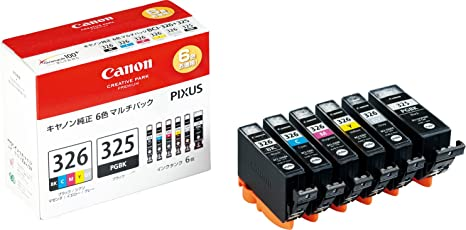 Canon 純正 インク カートリッジ BCI-326(BK/C/M/Y/GY)+BCI-325 6色マルチパック BCI-326+325/6MP