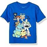 TOY STORY Boys OYSD258-02T Disney Pixar Comic Short Sleeve Tshirt - Toddlers Short Sleeve T-Shirt - Blue