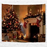 QIYI Interior Christmas decoration Light-weight Polyester Fabric tapestry - Romantic Pictures Art Nature Home Decorations - 6