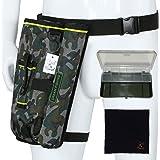 [キャット ハンド] フィッシング バッグ 釣り 用 ランガン レッグ ポーチ ウエストポーチ ロッドホルダー 3色展開 クリーニングクロス 付