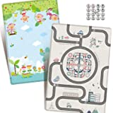 CBCBBING [with Flying Chess] Baby Folding Play Mat Infant Playmat Crawling Mat Reversible and Waterproof Foam Non Toxic for K