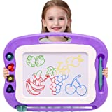 Wellchild Magnetic Drawing Board for Toddlers,Travel Size Toddlers Toys Colorful Erasable A Etch Toddler Sketch Magnetic Dood