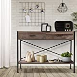 Artiss Hallway Console Table Wooden Top Metal Entryway Display Stand