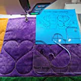YICBOR Heart Border Template for Quilting Fits Inside FMQ Grip 5