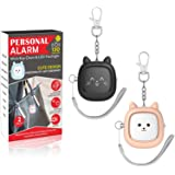 Safe Sound Personal Alarm,2 Pack 130 dB Loud Siren Song Emergency Safety Alarm Keychain with LED Light, Self Defense Siren -