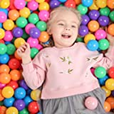 TRENDBOX 100 Colorful Ocean Ball (6 Color) for Babies Kids Children Soft Plastic Birthday Parties Events Playground Games Poo