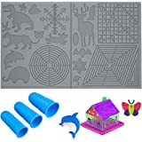 JSXD 3D Pen Mat,17.5 x 11 Inches Large 3D Printing Pen Mat Pad for 3D Beginners,Kids and Adults,Silicone Basic Template Tools