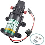 TOPLAND 12V Portable Diaphragm Water Pump with Safety Accessories Pressure Self-Priming