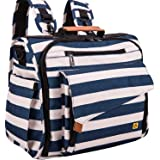 ALLCAMP OUTDOOR GEAR Zebra Diaper Bag Large, Support baby Stroller, Converted Into a Tote Bag, Black and White