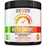 Zhou Nutrition Keto Drive Exogenous Ketone Performance Complex - BHB Salts - Formulated for Ketosis, Energy and Focus - Paten