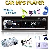 Eaglerich 自動車ラジオ Bluetooth 車音響 カーオーディオ ステレオ プレーヤー リモコン付き 1 Din 12V
