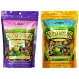LAFEBER'S Nutri-Berries Parrot Food 2 Flavor Variety Sampler Bundle, (1) Each: Sunny Orchard with Cranberries Apricots Dates,
