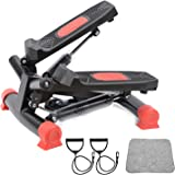 StormHero Exercise Stepper, Mini Aerobic Stepper Machine with Display, Fitness Stepper Including Resistance Bands, Massageabl