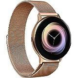 VICARA バンド Compatible with Galaxy Watch Active2 44mm/40mm Galaxy Watch3 41mm バンド マグネット式 時計バンド 20mm ステンレス オシャレ for Galaxy Watc