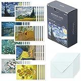 モノライク メッセージカード ミニカード ゴッホ Message card Gogh - 40枚封筒20枚セットミニサイズデザイン文具お祝いのカード感謝カード
