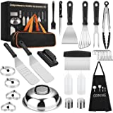 Yekale Griddle Accessories Kit, 31 Pcs Griddle Grill Tools Set for Blackstone and Camp Chef, Professional Grill BBQ Spatula S