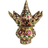 Rastogi Handicrafts Mangal Kalash Set Meenakari Work for Puja Kalash in Temple Home Decor Decorative Lota Narial Patta (