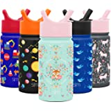 Simple Modern 14oz Summit Kids Water Bottle Thermos with Straw Lid - Dishwasher Safe Vacuum Insulated Double Wall Tumbler Tra