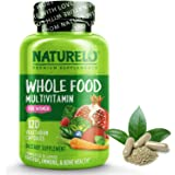 NATURELO Whole Food Multivitamin for Women - Natural Vitamins, Minerals, Raw Organic Extracts - Supplement for Energy and Hea