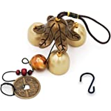 Banfeng 3 Bells Lucky Wind Chimes Feng Shui Wind Bell for Good Luck Home Garden Hanging Decoration Gift