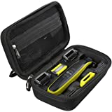 Aproca Hard Travel Storage Case Compatible with Philips Norelco OneBlade Face + Body hybrid electric trimmer and shaver QP263
