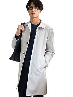 Cotton Silk Balmacaan Coat 3225-139-2297: Light Grey