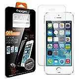 【Spigen】 iPhone SE ガラス フィルム GLAS.tR SLIM [ 液晶保護 9H硬度 Rラウンド 加工 ] アイフォン se / 5s / 5 用 (Glas.t R SLIM【SGP10111】)