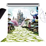 DLMY 5x7ft Alice in Wonderland Photography Backdrops for Kids Birthday Party Supplies DecorationsPhoto Background for Photo S