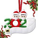 AYOGU 2020 Ornament, Decor Kit Mask Ornament, Christmas Ornaments 2020 (2 Family Members)