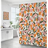 Waterproof Polyester Fabric Shower Curtain, Bathroom Decor Curtain with Hooks 72 by 72 Inch Hotel Quality Machine Washable (7