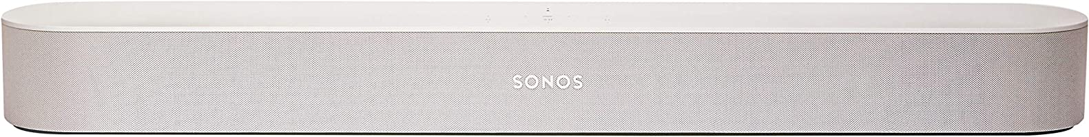 Sonos Beam Compact Smart Sound bar for Your TV with Amazon Alexa Voice Control Built-in, White