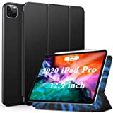 Ztotop iPad Pro 12.9 ケース 2020 第四世代 磁気吸着式 極薄軽量 [Apple Pencil 2 ワイヤレス充電] 3つ折りスタンド オートスリープ 全面保護 完全磁吸 傷つけ防止 最新版iPad Pro 12.9 カバー (ブラック)