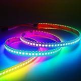 JOYLIT WS2812B Individually Addressable LED Strip Light, USB 5V 144 Pixels 3.2ft 5050 RGB Dream Color Chasing Rainbow Lightin