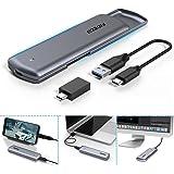 FIDECO M.2 NVMe PCIE SSDケース USB3.1 Gen2(M-Key or B+M Keyのみ対応)2230 2242 2260 2280対応 変換アダプタ ポータブル ハードドライブ エンクロージャ、UASPサポート USB