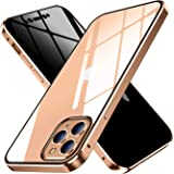 OURJOY iPhone11 Pro Max ケース 覗見防止 両面ガラス 対応 360°全面保護 iPhone 11Pro Max アルミ バンパー ケース マグネット式 磁石 磁気接続 スマホケース 耐衝撃 アイフォン 11ProMax ケース