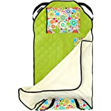 Urban Infant Tot Cot All-in-One Modern Preschool/Daycare Nap Mat with Washable Pillow and Elastic Straps - Planet