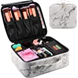 Travel Makeup Train Case Makeup Cosmetic Case Organizer Portable Artist Storage Bag 10.3'' with Adjustable Dividers for Cosme