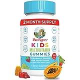 Vegan Kids Multivitamin Gummies by MARYRUTH'S | Organic Ingredients for Immunity, Bones & Muscles | 260 mcg Methylfolate, Sug