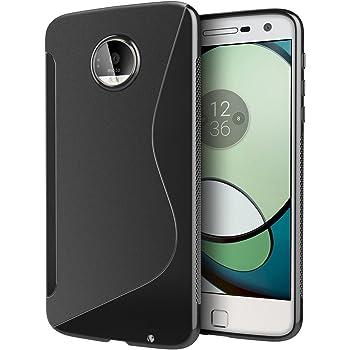 e37dc2dcef Motorola Moto Z ケース TPU 保護 グリップ カバー [ モトローラ スマートフォン Moto Z 5.5インチ 専用 ]  滑止め加工/ソフトフィット / 光沢加工【 Design S Black ...