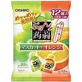 Orihiro Purunto Konnyak Jelly Pouch Muscat and Orange Pack, 240G