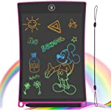 GUYUCOM 8.5-Inch LCD Writing Tablet Colorful Screen Doodle Board Electronic Digital Drawing Pad with Lock Button for Kids Adu