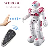 WEECOC Smart Robot Toys Gesture Control Remote Control Robot Kids Toys Birthday Can Singing Dancing Speaking Two Walking Mode