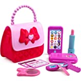 Playkidiz - Princess My First Purse Set - 8 Pieces Kids Play Purse and Accessories, Pretend Play Toy Set with Cool Girl Acces