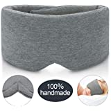 JEBBLAS 100% Hand-Made Cotton Sleep Massage Shading Super Soft and Comfortable Shading Eye Mask is Suitable for Adjustable Ey
