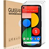 HEYUS [3 Pack] for Google Pixel 5 Screen Protector, Case Friendly/Bubble Free/HD Clear 9H Hardness Tempered Glass Screen Prot