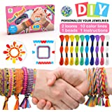 Colorful Ropes Beads Kit for Bracelet Making Kit for Girls Kids Friendship Bracelet Kit with 10 Colors of Colored Cotton Thre