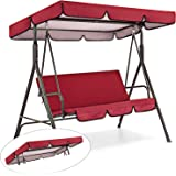 Patio Swing Canopy Replacement Top Cover, Premium Waterproof Porch Swing Cover with Canopy, Outdoor Garden Swing Top Dustproo