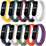 T Tersely 10 Colours Straps Compatible with Xiaomi Mi Band 5/6 / Amazfit Band 5, Silicone Replacement Watch Colourful Bracele